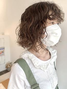 co-kyuパーマで前髪もかけてウエット仕上げ