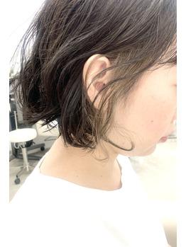 白髪ぼかしインナーカラー髪質改善オージュアトリ